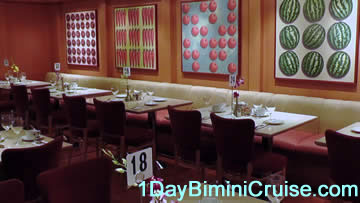 1 day Bimini cruise upgrade dining